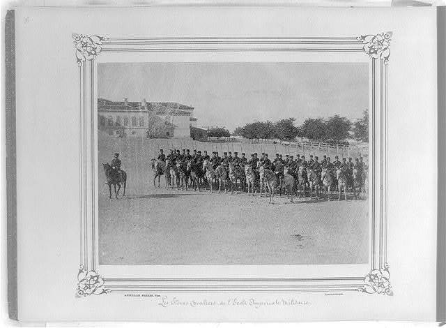 [The cavalry students at the Imperial Military Academy] / Abdullah Frères, Phot., Constantinople.
