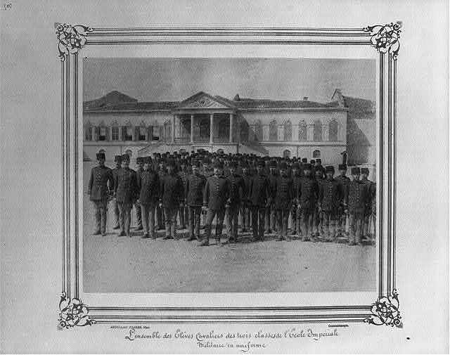 [The cavalry students from three classes at the Imperial Military Academy, in uniform] / Abdullah Frères, Phot., Constantinople.