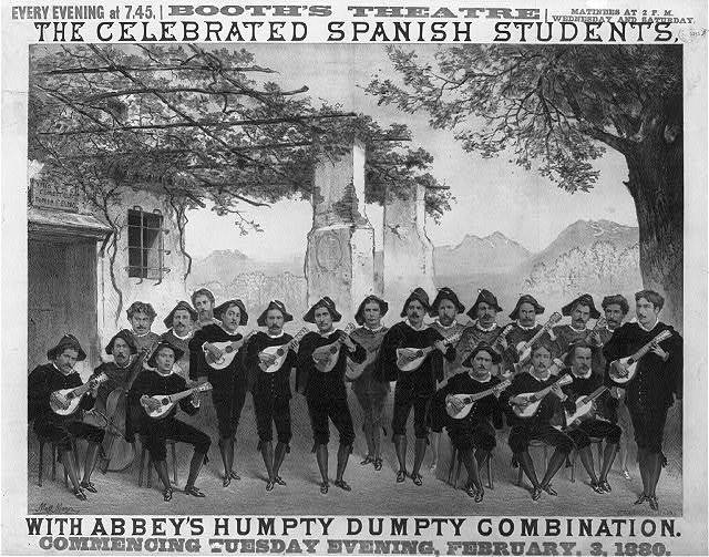 The celebrated Spanish Students with Abbey's Humpty Dumpty Combination