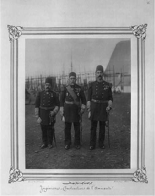 [The Chairman of Naval Production and the construction engineers] / Constantinople, Abdullah Frères.