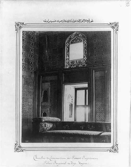 [The chamber for the circumcision of the princes, in the Imperial Topkapı Sarayı (palace)]