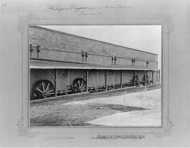 [The cogwheels in the mixing department at the Imperial Gunpowder Factory] / the photograph studio of the Imperial School of Engineering.