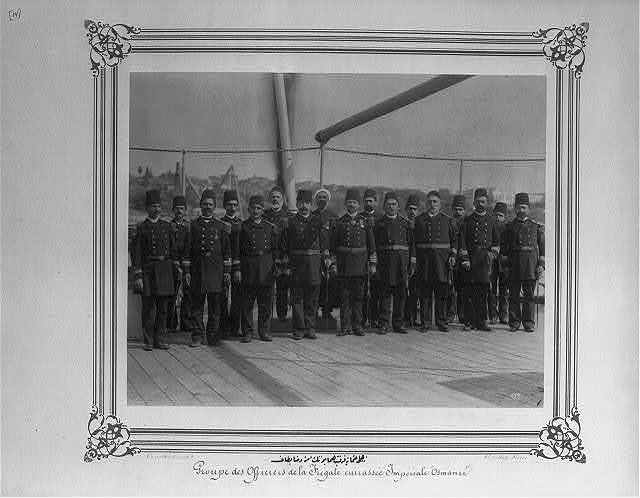 [The commanders and officers of the Imperial Ironclad Frigate Osmaniye] / Constantinople, Abdullah Frères.