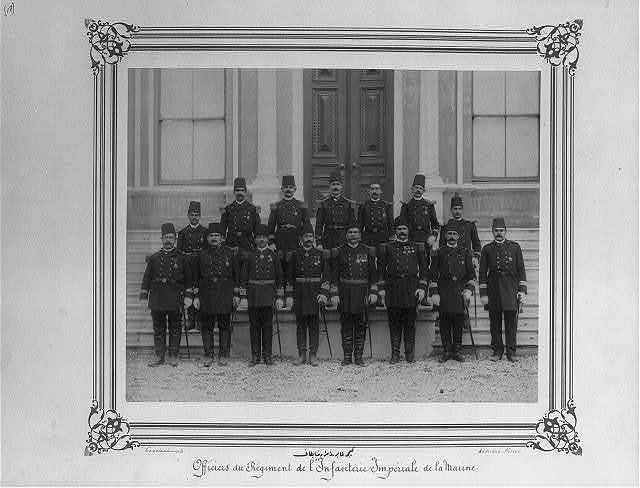 [The commanders and officers of the Naval Battalion] / Constantinople, Abdullah Frères.