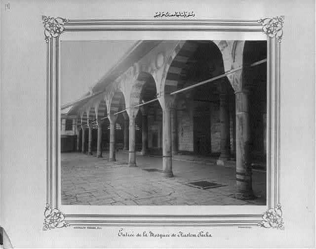 [The courtyard of the Rüstem Paşa Camii (mosque)] / Abdullah Frères, Phot., Constantinople.
