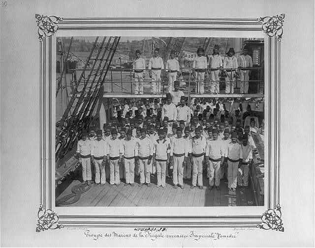 [The crew of the Imperial Ironclad Frigate Hamidiye] / Constantinople, Abdullah Frères.