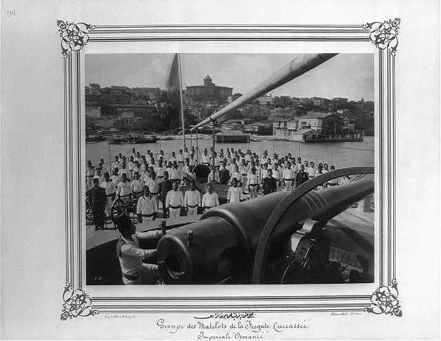 [The crew of the Imperial Ironclad Frigate Osmaniye] / Constantinople, Abdullah Frères.