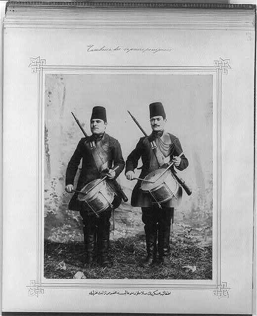 [The drummer soldiers of the Selamlık Ceremony units of the Fire Brigade]