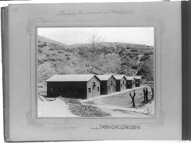 [The filling huts at the cartridge factory in Kırkağaç] / the photograph studio of the Imperial School of Engineering.