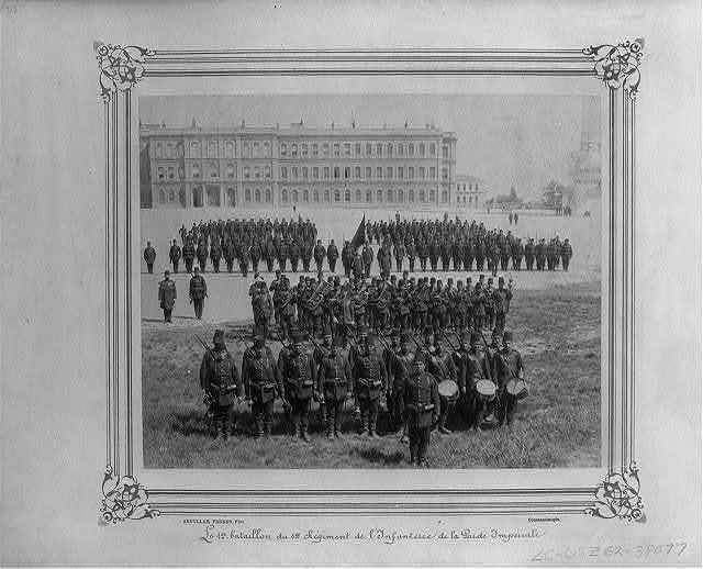 [The First Battalion of the First Infantry Regiment of the Imperial Guard] / Abdullah Frères, Phot., Constantinople.