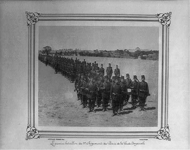 [The First Battalion of the First Regiment of the Imperial Guard Corps of Engineers] / Abdullah Frères, Phot., Constantinople.
