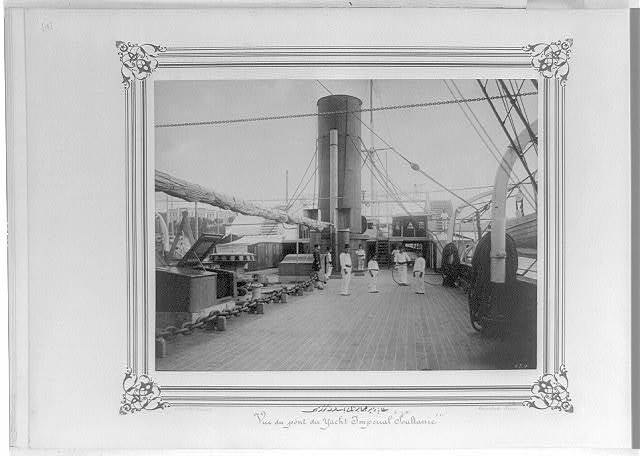 [The front deck of the Imperial Yacht, Sultaniye] / Constantinople, Abdullah Frères.