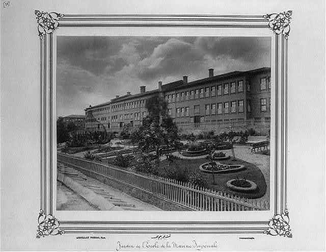 [The garden of the Imperial Naval Academy] / Abdullah Frères, Phot., Constantinople.