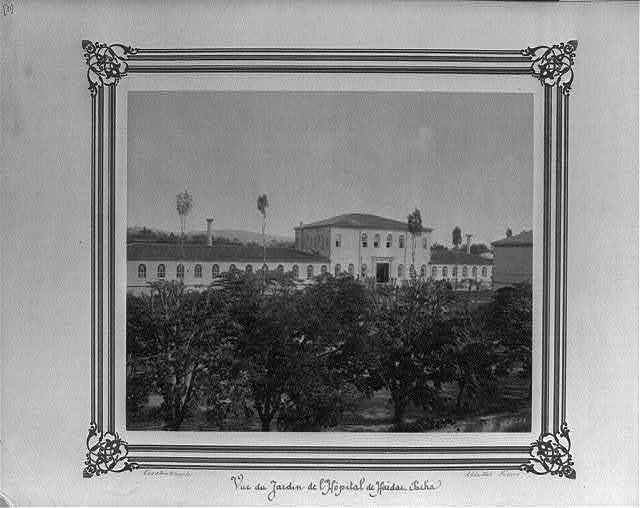 [The garden of the (Military) Hospital at Haydarpaşa] / Constantinople, Abdullah Frères.