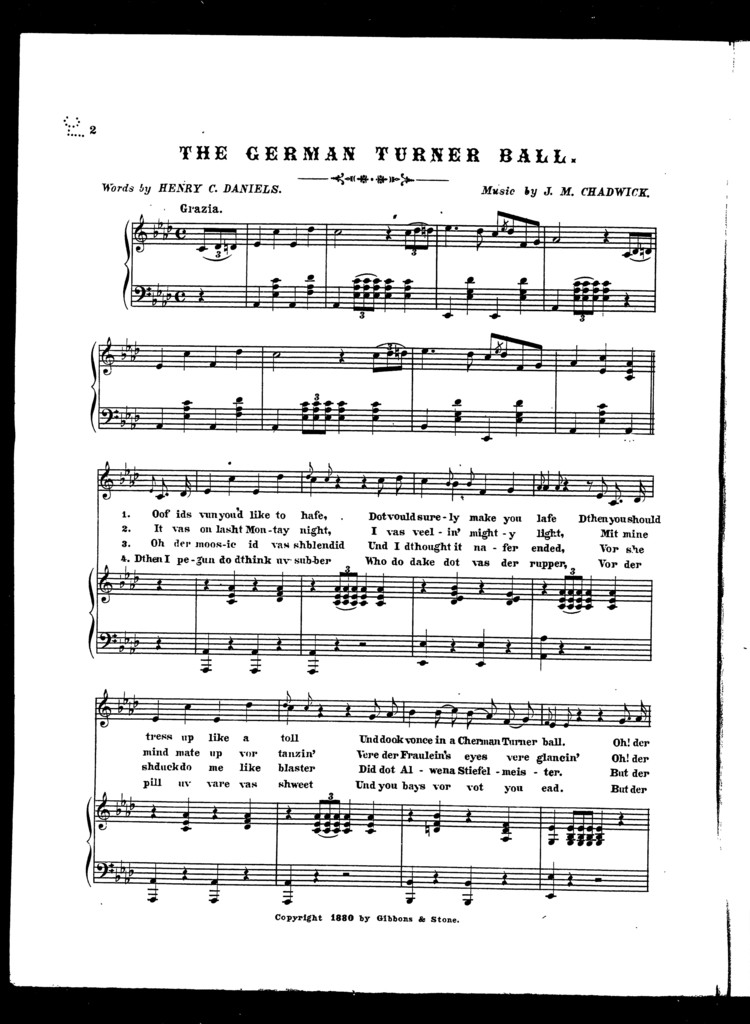 The  German turner ball
