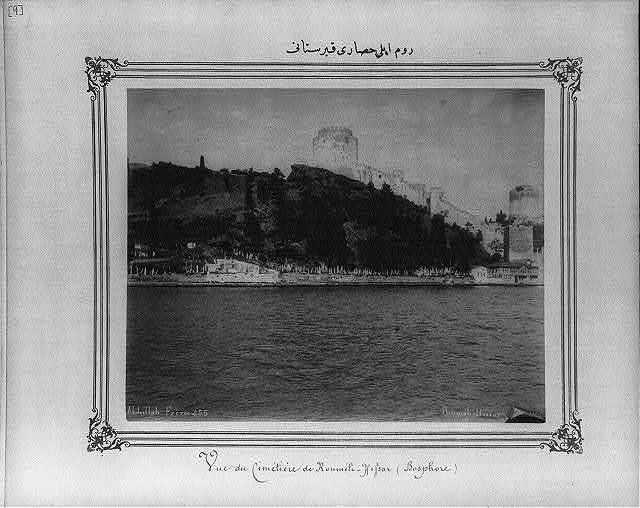 [The graveyard of Rumeli Hisarı (fortress)] / Abdullah Frères.