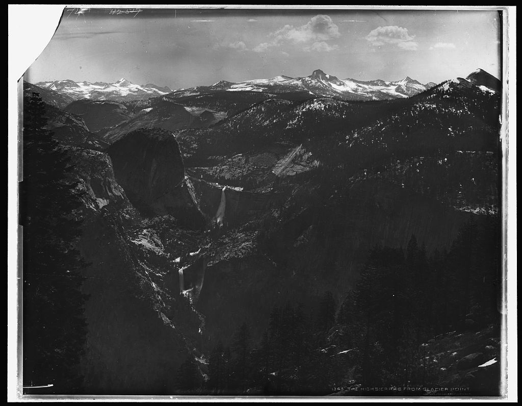 The high Sierras from Glacier Point