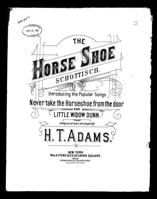 The  Horse-shoe schottische