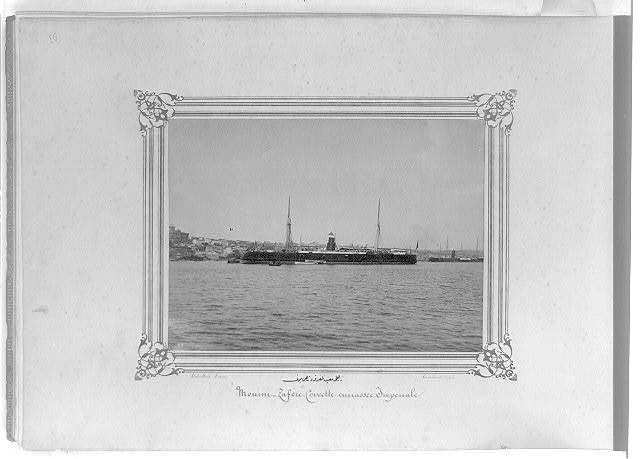 [The Imperial Ironclad Corvette, Muin-i Zafer] / Abdullah Frères, Constantinople.