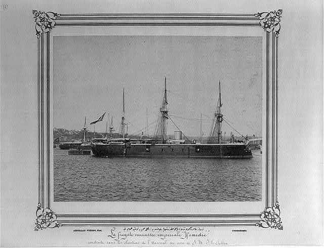 [The imperial ironclad frigate called by the imperial name Hamidiye, built in the Imperial Naval Arsenal] / Abdullah Frères, Phot., Constantinople.