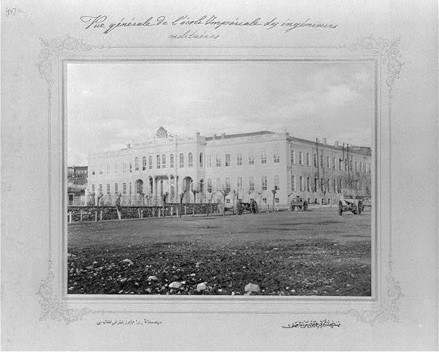 [The Imperial School of Engineering, seen from the direction of the Harbiye (War Academy)] / the photograph studio of the Imperial School of Engineering.