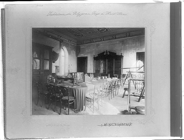 [The interior of the Imperial Artillery Range on the Kağıthane] / the photograph studio of the Imperial School of Engineering.