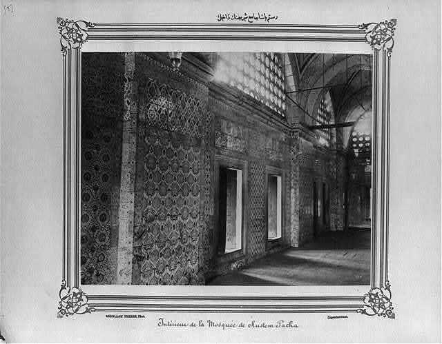 [The interior of the Rüstem Paşa Camii (mosque)] / Abdullah Frères, Phot., Constantinople.
