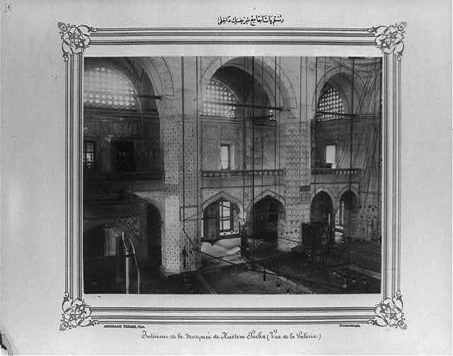 [The interior of the Rüstem Paşa Camii (mosque)] / Abdullah Frères, Phot., Constantinople.