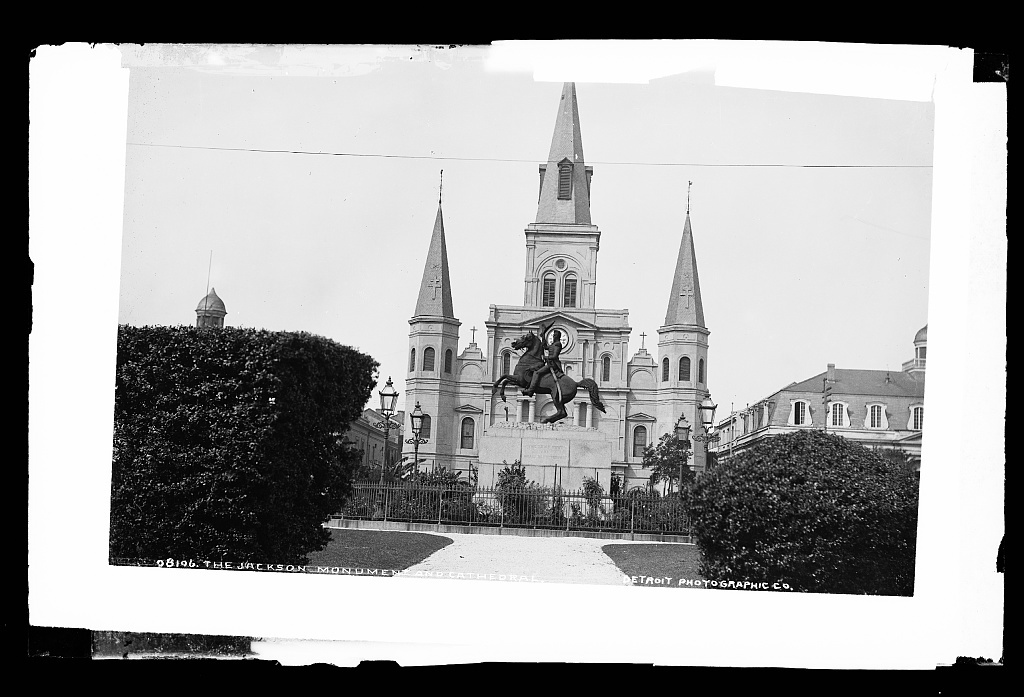The Jackson Monument and [St. Louis] Cathedral