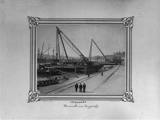 [The movable crane named Turgut Alp] / Abdullah Frères, Constantinople.