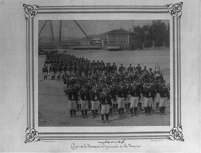 [The Naval Batallion and its band] / Constantinople, Abdullah Frères.