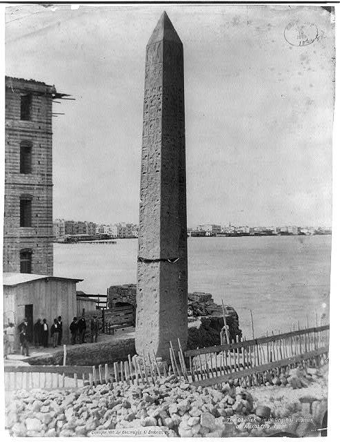 "The ""Obelisk"" in its original position at Alexandria, Egypt"