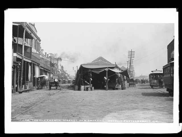 The old French Market, New Orleans