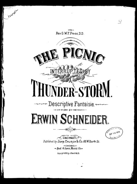 The  Picnic interrupted by a thunderstorm