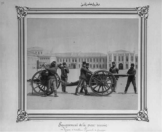 [The preparation of artillery] / Constantinople, Abdullah Frères.