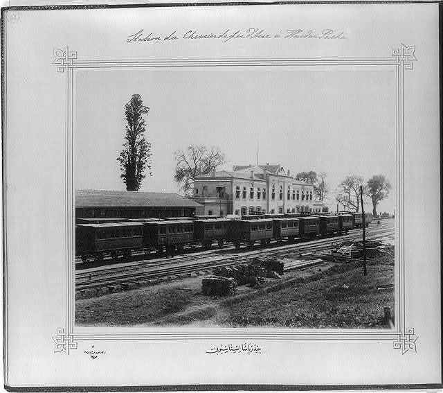 [The Railroad Station of Haydarpaşa] / Lieutenant Colonel of the General Staff, Ali Rıza Bey.
