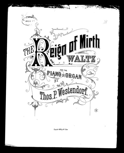 The  Reign of mirth waltz