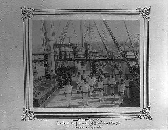 [The rigging drill on the Imperial Ironclad Frigate Mes'udiye] / Constantinople, Abdullah Frères.
