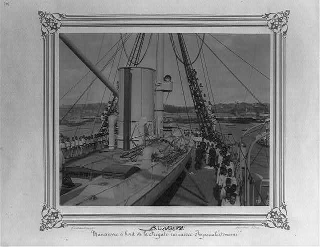 [The rigging drill on the Imperial Ironclad Frigate Osmaniye] / Constantinople, Abdullah Frères.