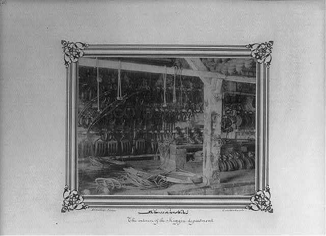 [The rigging shop at the Imperial Naval Arsenal] / Abdullah Frères, Constantinople.