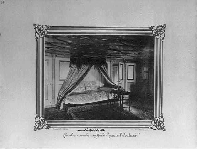 [The sleeping quarters of the Imperial Yacht, Sultaniye] / Abdullah Frères, Constantinople.