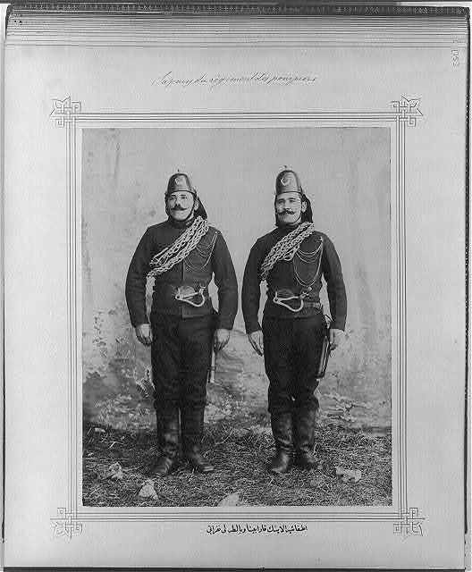 [The soldiers of the Fire Brigade with carbines and axes]