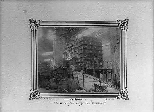[The steel foundry at the Imperial Naval Arsenal] / Abdullah Frères, Constantinople.
