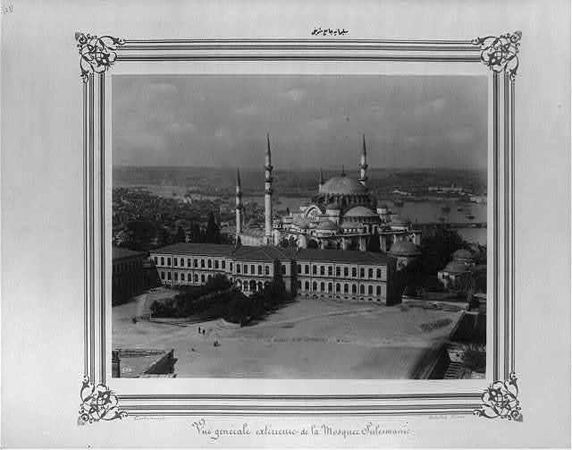 [The Süleymaniye Camii (mosque)] / Constantinople, Abdullah Frères.