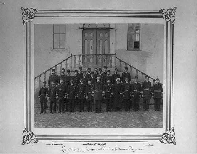 [The teachers and officers of the Imperial Naval Academy] / Abdullah Frères, Phot., Constantinople.
