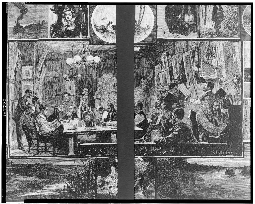 The Tile Club at work / Drawn by C.S. Reinhart.