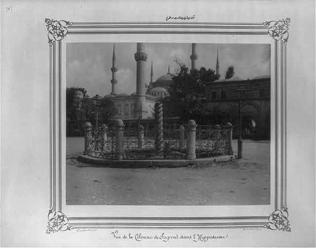 [The twisting bronze at the Hippodrome] / Constantinople, Abdullah Frères.