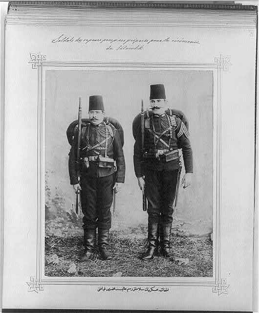 [The uniforms of the Fire Brigade soldiers of the Selamlık ceremony]