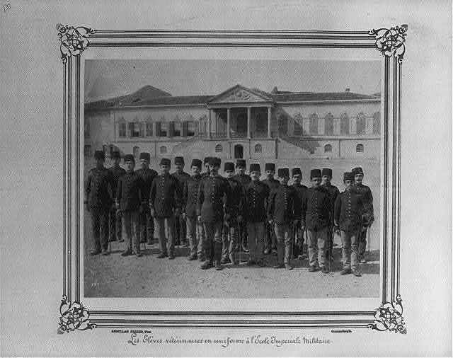 [The veterinary students in uniform at the Imperial Military Academy] / Abdullah Frères, Phot., Constantinople.