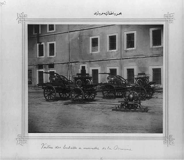 [The wagons of the Naval Fire Brigade]